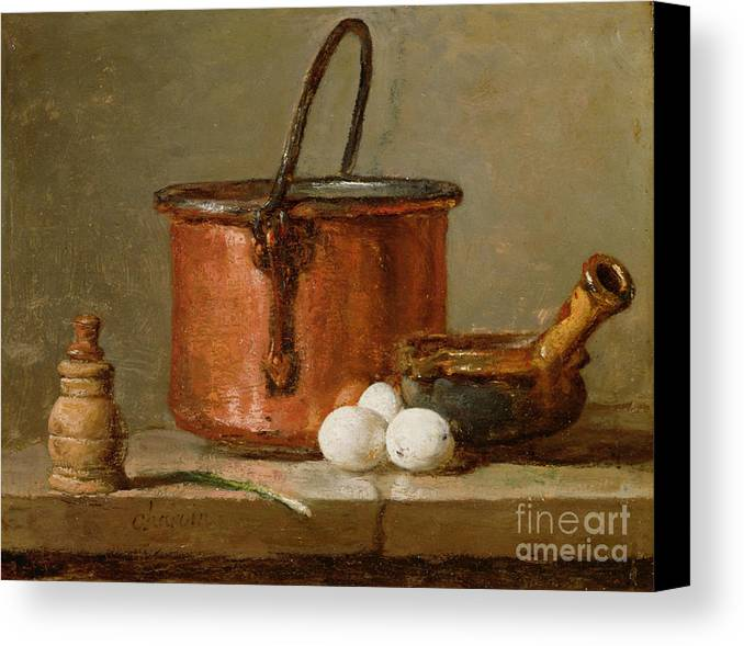 Still Canvas Print featuring the photograph Still Life by Jean-Baptiste Simeon Chardin