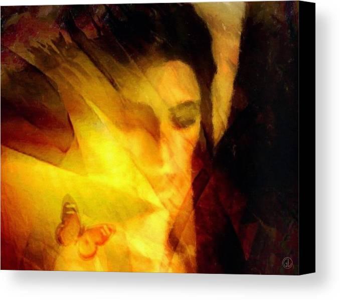 Digital Art Canvas Print featuring the digital art Butterfly Moment by Gun Legler