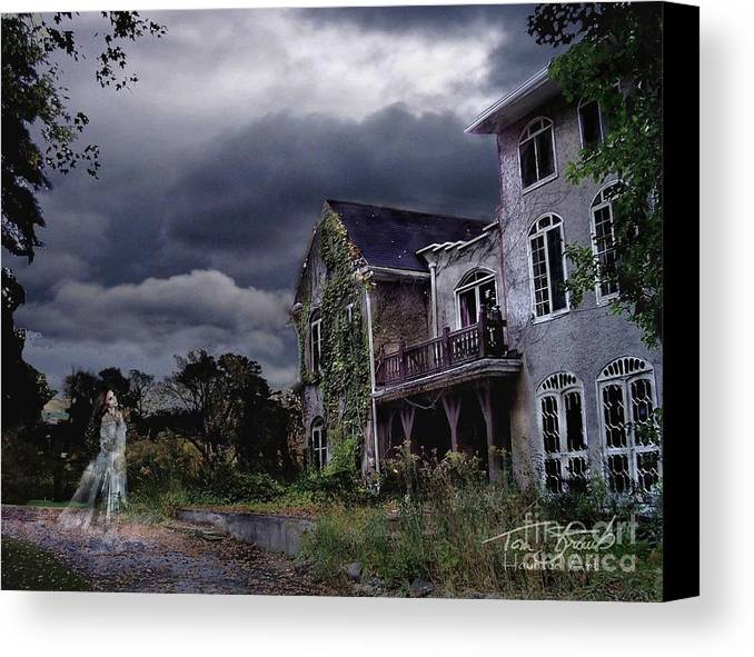 Ghost Canvas Print featuring the photograph Castle House by Tom Straub