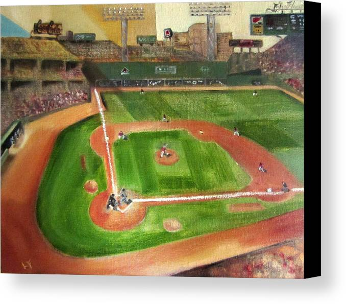 Fenway Park Canvas Print featuring the painting Fenway Park by Lindsay Frost