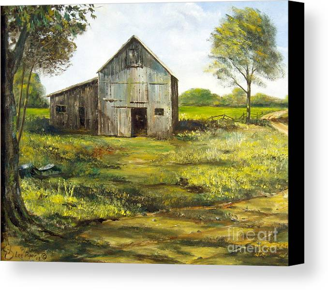 Barn Canvas Print featuring the painting Old Barn by Lee Piper
