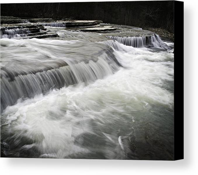 Arkansas Canvas Print featuring the photograph 0804-0113 Six Finger Falls 2 by Randy Forrester