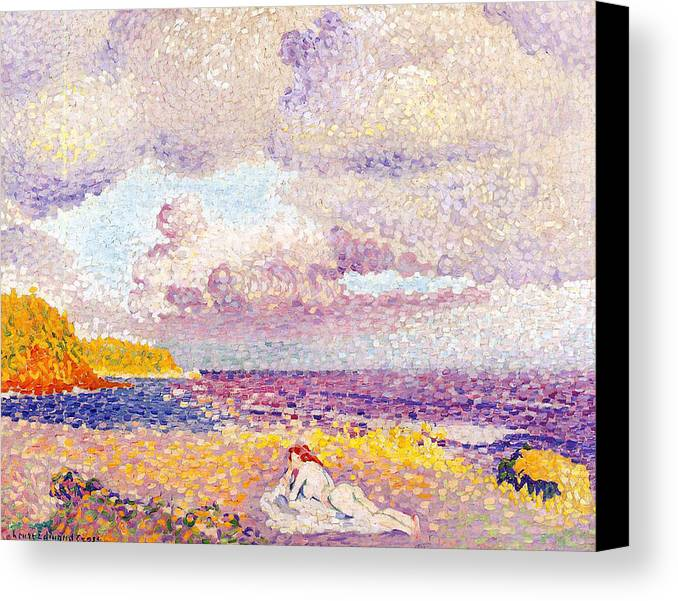 An Incoming Storm Canvas Print featuring the painting An Incoming Storm by Henri-Edmond Cross