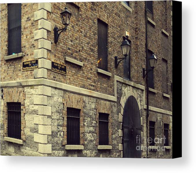 Dublin Canvas Print featuring the pyrography Guinness Storehouse Dublin by Louise Fahy