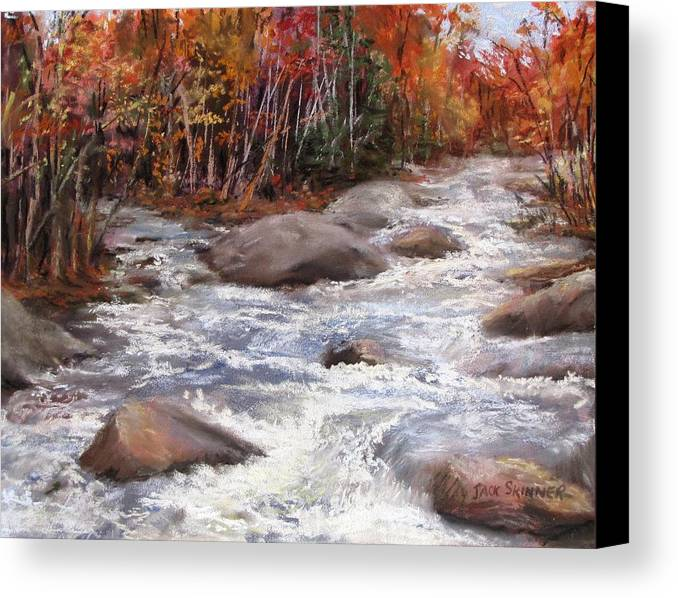 River Canvas Print featuring the painting Meeting Of The Waters by Jack Skinner