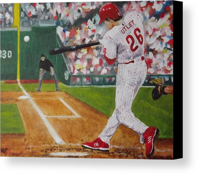 Ballpark Canvas Print featuring the painting Chase by Al Fonollosa