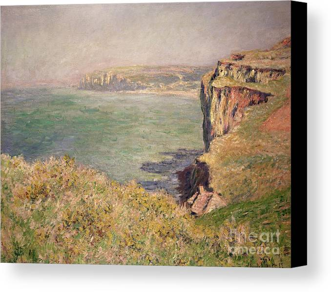Cliff Canvas Print featuring the painting Cliff At Varengeville by Claude Monet