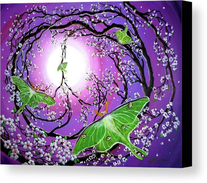 Acrylic Painting Canvas Print featuring the painting Drawn To The Light by Laura Iverson