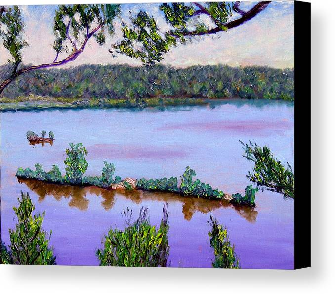 Original Oil On Canvas Canvas Print featuring the painting Ecp 6-1 by Stan Hamilton
