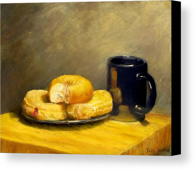 Still Life Canvas Print featuring the painting First Call...breakfast by Jack Skinner