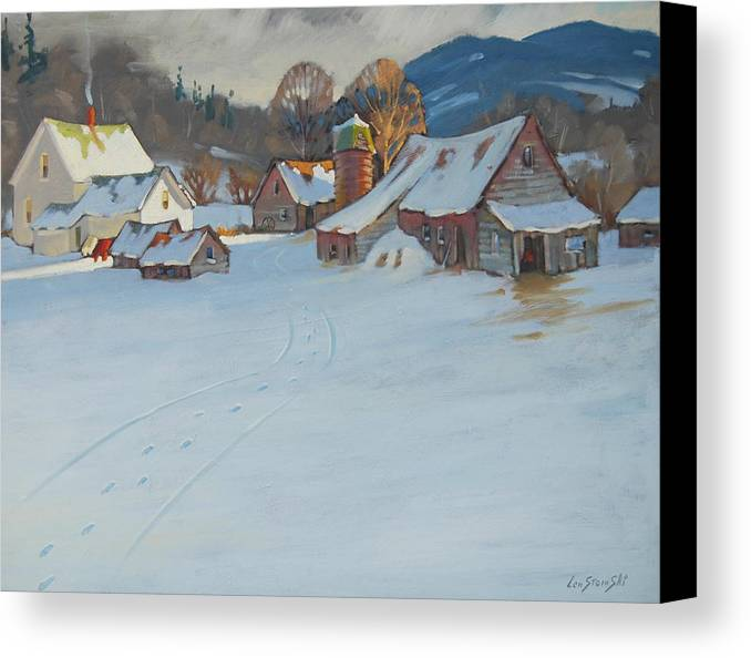 Berkshire Hills Paintings Canvas Print featuring the painting Wash Day by Len Stomski