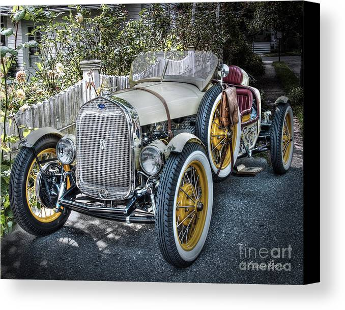 Ford Roadster Canvas Print featuring the photograph Ford Roadster by Louise Reeves