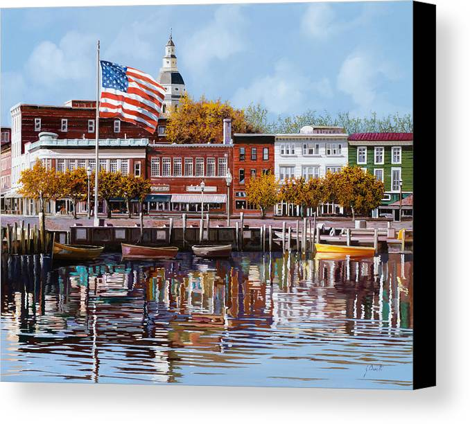 Annapolis Canvas Print featuring the painting Annapolis by Guido Borelli