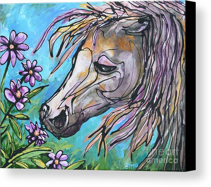 Horse Canvas Print featuring the painting Aromatherapy by Jonelle T McCoy
