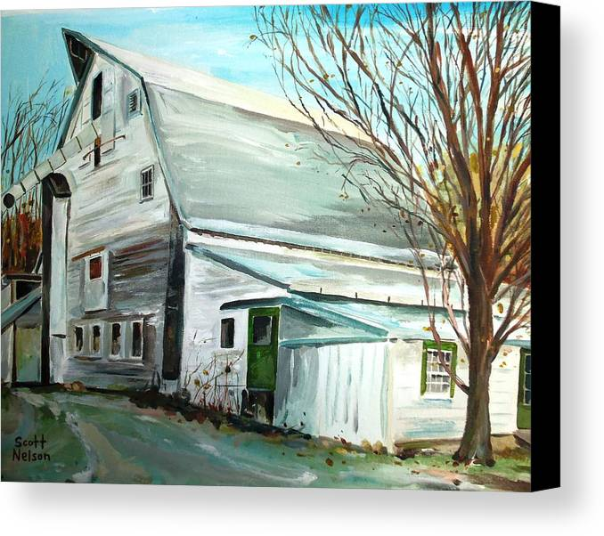 Millbury Ma Canvas Print featuring the painting Better Days by Scott Nelson