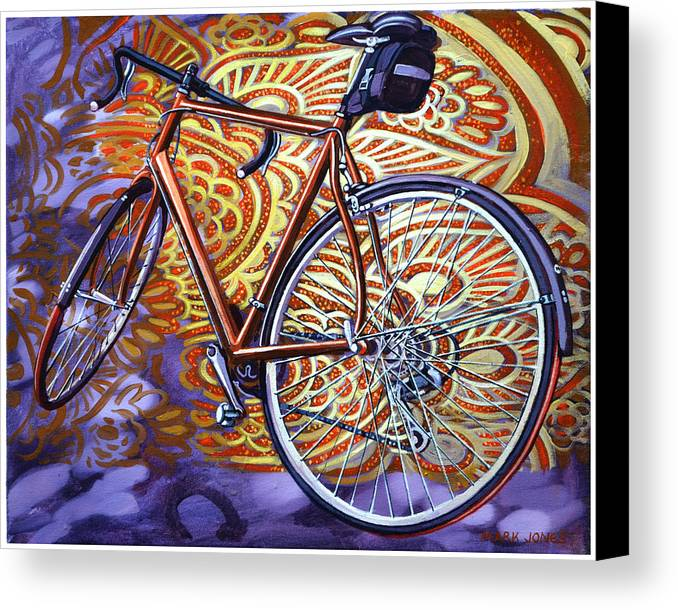 Bicycle Canvas Print featuring the painting Cannondale by Mark Howard Jones