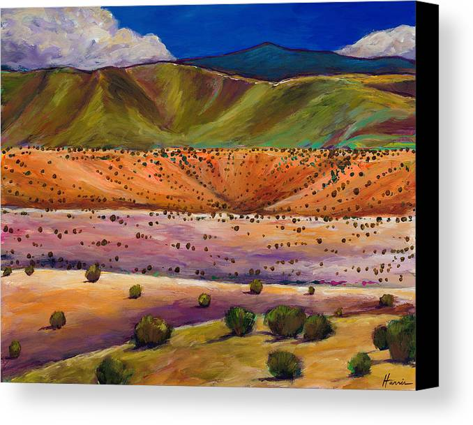 New Mexico Canvas Print featuring the painting Foothill Approach by Johnathan Harris