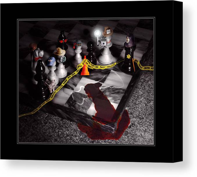 Savad Canvas Print featuring the photograph Game - Chess - It's Only A Game by Mike Savad