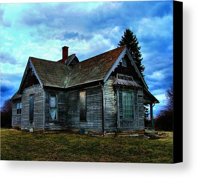 Old Abandoned Canvas Print featuring the photograph Glory Days Gone By by Julie Dant