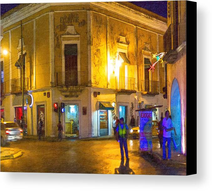 Merida Canvas Print featuring the photograph Hot Nights In The Yucatan by Mark E Tisdale