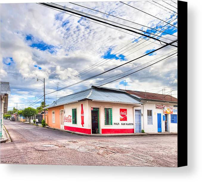 Liberia Canvas Print featuring the photograph Little Pulperia On The Corner - Costa Rica by Mark E Tisdale