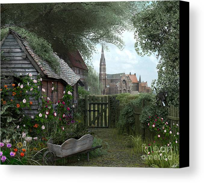 Architecture Canvas Print featuring the digital art Old Shed by Dominic Davison
