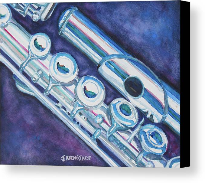 Flute Canvas Print featuring the painting Some Assembly Required by Jenny Armitage