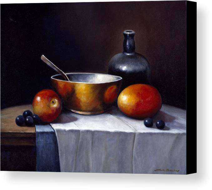 Pallet Canvas Print featuring the painting Still Life Rhapsody by John Zaccheo