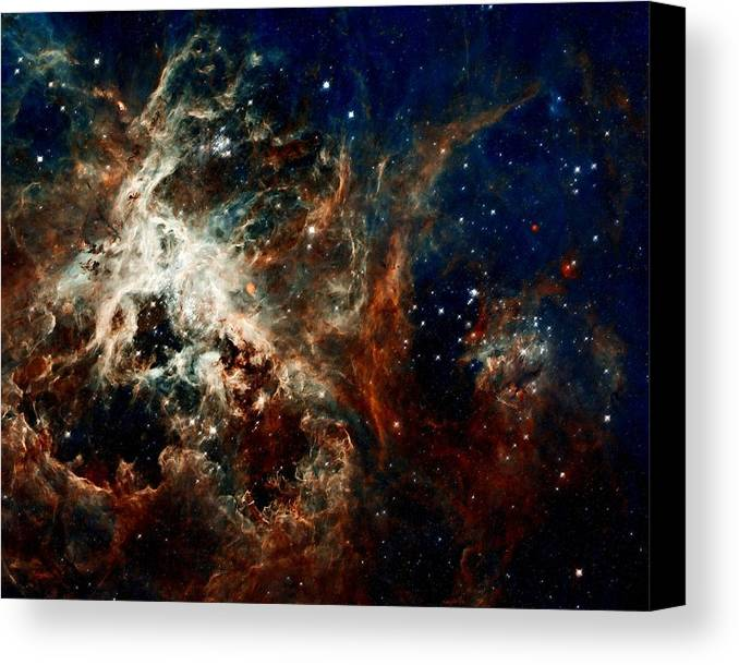 Hubble Canvas Print featuring the photograph Tarantula Nebula by Amanda Struz