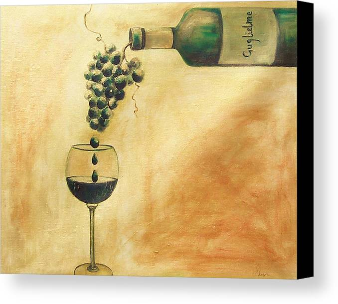 Wine Canvas Print featuring the painting Taste Of Life by Sheri Chakamian