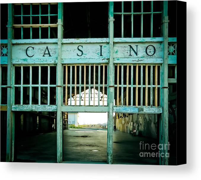 The Casino Canvas Print featuring the photograph The Casino by Colleen Kammerer