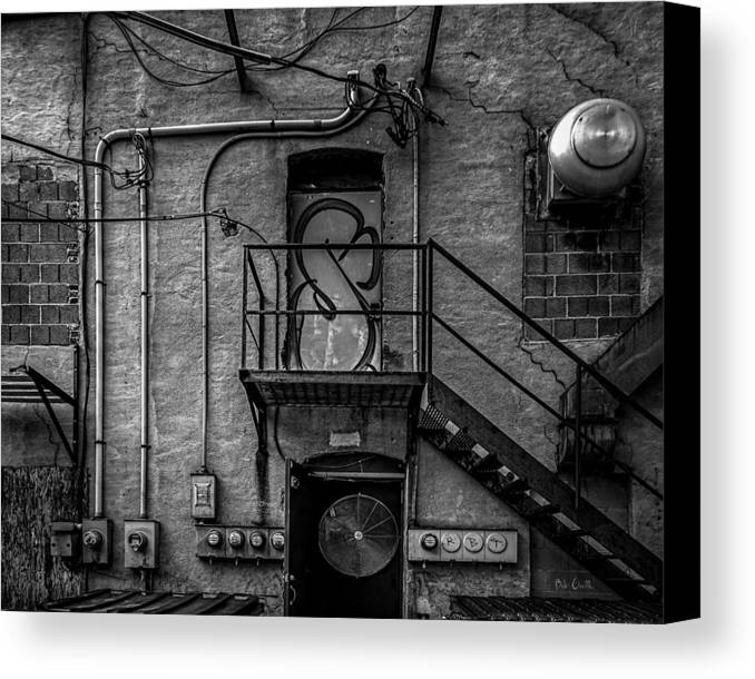 Abstract Canvas Print featuring the photograph The City Is A Poem by Bob Orsillo