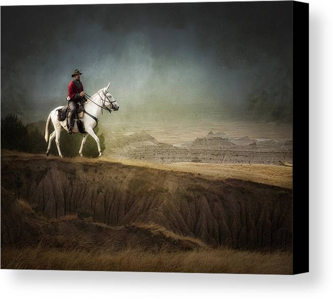 Landscape Canvas Print featuring the photograph Westward by Ron McGinnis