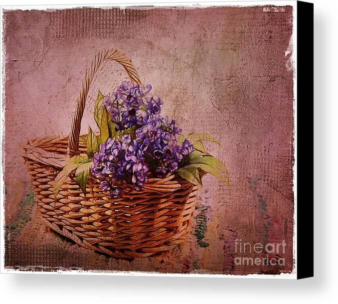 Flowers Canvas Print featuring the photograph Flower Basket by Judi Bagwell