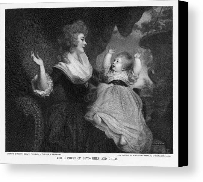 Georgiana Cavendish Canvas Print featuring the photograph Georgiana, Duchess Of Devonshire by Miriam And Ira D. Wallach Division Of Art, Prints And Photographsnew York Public Library