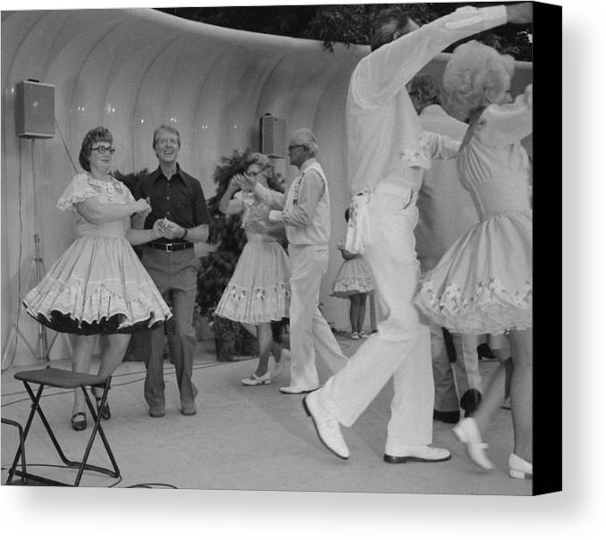 History Canvas Print featuring the photograph Jimmy Carter Square Dances by Everett