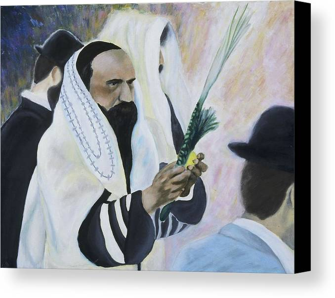 Fine Art Canvas Print featuring the painting Sukkot by Iris Gill