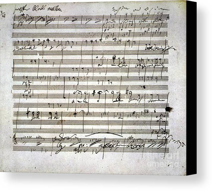 18th Century Canvas Print featuring the photograph Beethoven Manuscript by Granger
