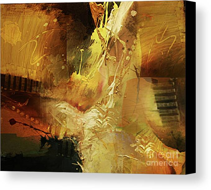 Abstract Canvas Print featuring the painting Untitled by Angelina Cornidez