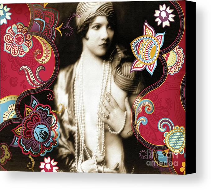 Nostalgic Seduction Canvas Print featuring the photograph Goddess by Chris Andruskiewicz