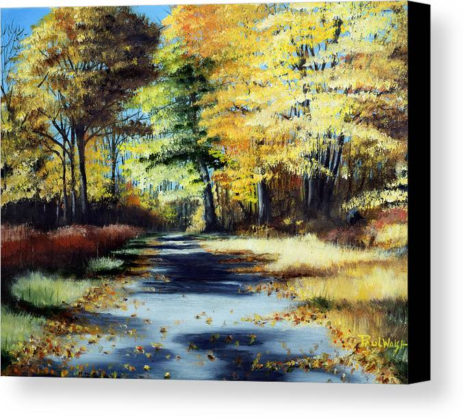 Landscape Canvas Print featuring the painting Autumn Colors by Paul Walsh