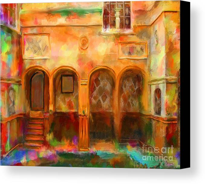 bath England Canvas Print featuring the mixed media Bath England by Marilyn Sholin