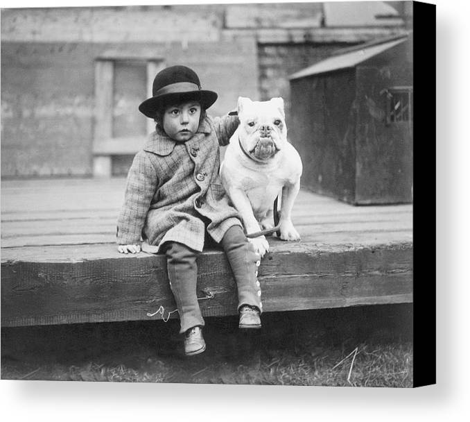 2-3 Years Canvas Print featuring the photograph Best Friends by Kirby