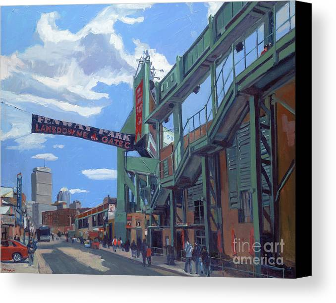 Fenway Canvas Print featuring the painting Gate C by Deb Putnam