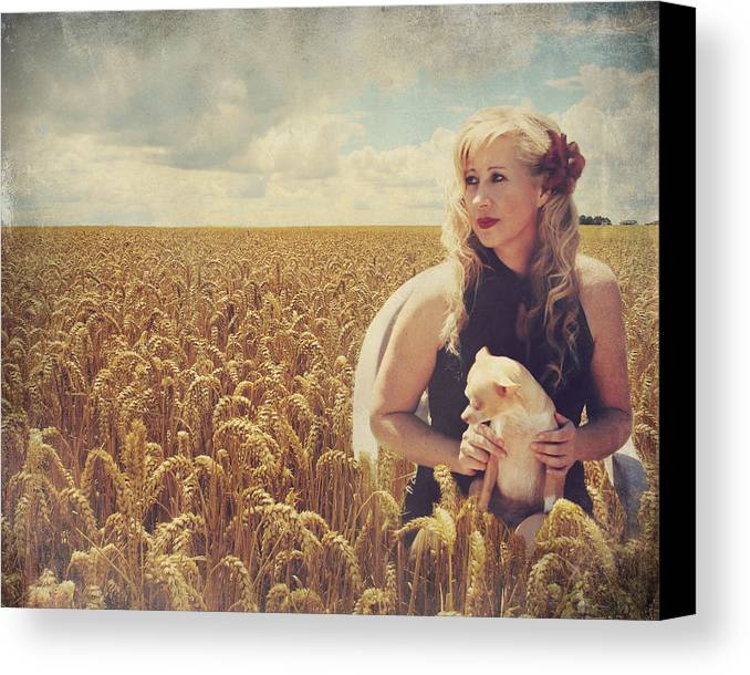 Woman Canvas Print featuring the photograph Hearts And Thoughts They Fade....fade Away by Laurie Search