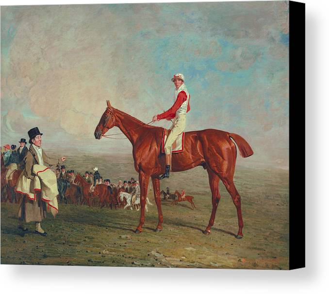 Horse Canvas Print featuring the painting Sam With Sam Chifney Jr. Up by Benjamin Marshall