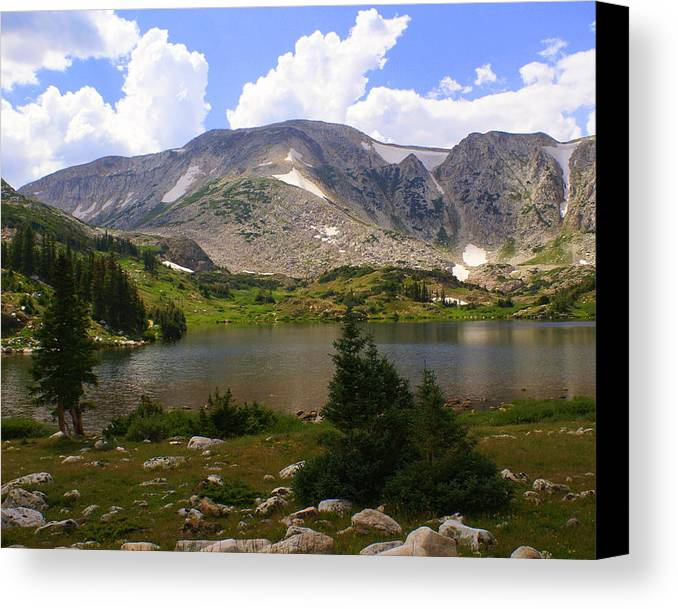 Mountain Canvas Print featuring the photograph Snowy Mountain Loop 9 by Marty Koch