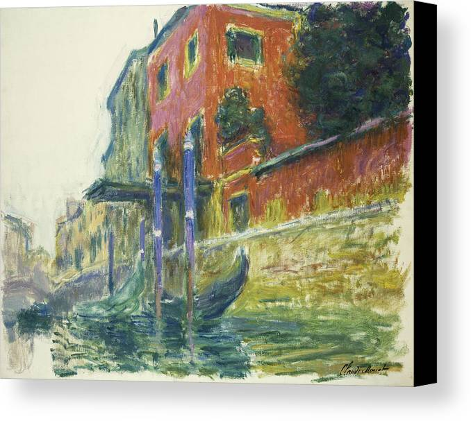 Claude Monet Canvas Print featuring the painting The Red House by Claude Monet
