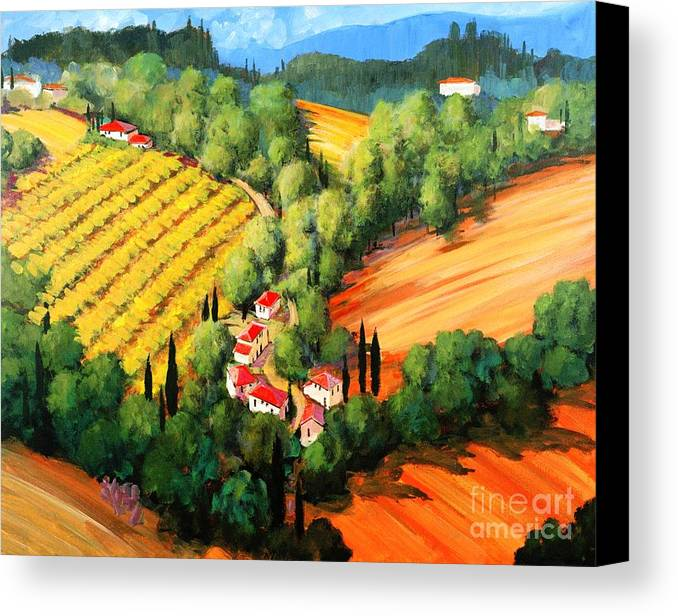 Chianti Landscape Canvas Print featuring the painting Chianti Road by Michael Swanson