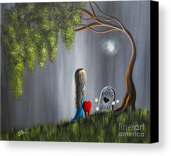 Lowbrow Canvas Print featuring the painting Don't Worry I Won't Let That Happen To You By Shawna Erback by Shawna Erback